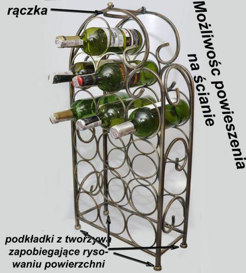 stojak na wino do zawieszenia